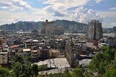 Взгляд горизонта городского пейзажа Макао городской Стоковые Фото