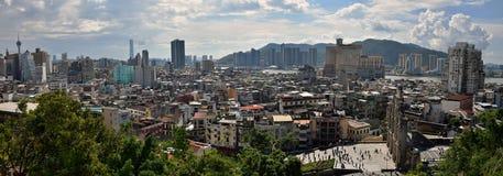 Взгляд горизонта городского пейзажа Макао городской Стоковое Фото