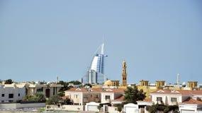 Взгляд горизонта Дубай, ОАЭ стоковые фото