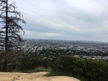 Взгляд горизонта Лос-Анджелеса от обсерватории Griffith, в Griffith Park, Лос-Анджелес, Калифорния Стоковое Изображение RF