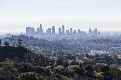 Взгляд горизонта утра Лос-Анджелеса стоковое изображение rf