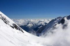взгляд горных склонов Стоковое Изображение
