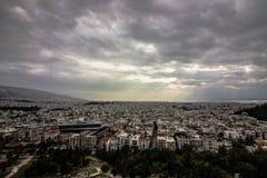 взгляд города Афин, Стоковое Фото