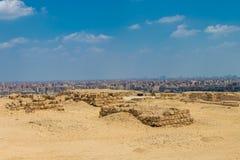 Взгляд города Каира от холма, Египта стоковое изображение