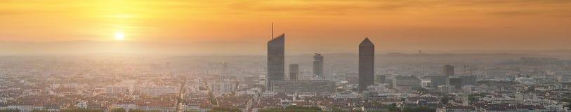 Взгляд города Лиона от Fourviere, Франции Стоковые Фото