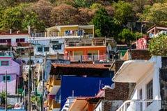 Взгляд города Мансанильо, Мексики Мексиканец riviera стоковые фотографии rf