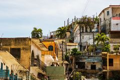 Взгляд города Мансанильо, Мексики Мексиканец riviera стоковое фото