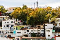 Взгляд города Мансанильо, Мексики Мексиканец riviera стоковое изображение