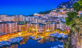 Взгляд города Монако Французский riviera стоковое фото