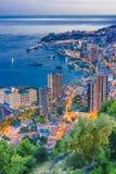Взгляд города Монако Французский riviera стоковая фотография