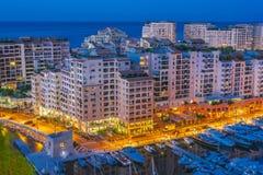 Взгляд города Монако Французский riviera стоковые изображения