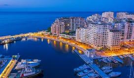 Взгляд города Монако Французский riviera стоковое фото rf