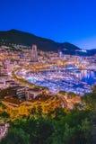 Взгляд города Монако Французский riviera стоковая фотография rf
