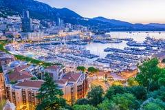 Взгляд города Монако Французский riviera стоковое изображение