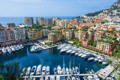 Взгляд города Монако Французский riviera стоковые фото