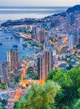 Взгляд города Монако Французский riviera стоковое изображение rf
