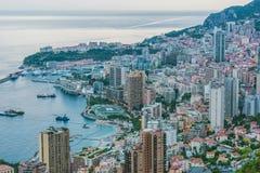 Взгляд города Монако Французский riviera стоковые изображения rf