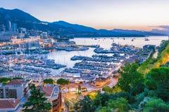 Взгляд города Монако Французский riviera стоковые фотографии rf