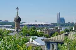 Взгляд города Москвы на летний день, России стоковое фото