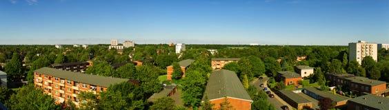 взгляд города панорамный стоковая фотография