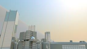 взгляд города предпосылки солнечный Стоковая Фотография