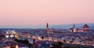 Взгляд города Флоренс в вечере Стоковые Фотографии RF