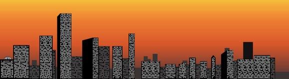 Взгляд города иллюстрация штока