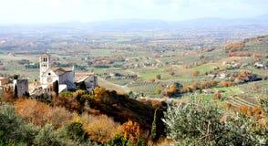 Взгляд города Assisi, Италия стоковые фотографии rf