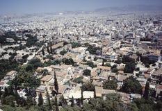 взгляд города athens стоковая фотография rf