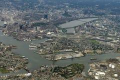 взгляд города boston Стоковое Изображение