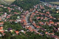 Взгляд города Deva стоковое фото rf
