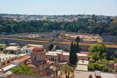 Взгляд города rhodos старого Стоковое Изображение