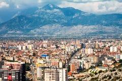 Взгляд города Shkoder стоковые фотографии rf