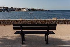 Взгляд городка моря на каникулах Стоковое Фото