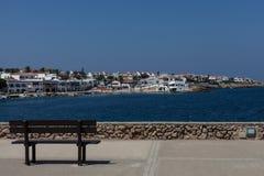 Взгляд городка моря на каникулах Стоковые Изображения