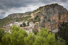 Взгляд городка Chulilla стоковые фото