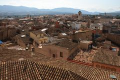 взгляд городка montblanc стоковое фото rf