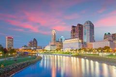 Взгляд городского горизонта Кливленда в Огайо США стоковые фото