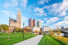 Взгляд городского горизонта Колумбуса Огайо стоковое фото rf
