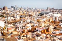 Взгляд городского пейзажа Валенсии стоковое фото