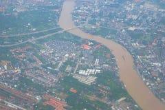 Взгляд городского пейзажа от верхней части стоковая фотография