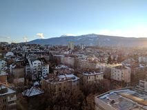 Взгляд городского пейзажа панорамный Стоковое фото RF