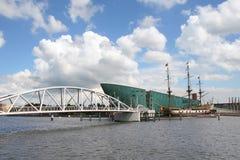 взгляд городского пейзажа amsterdam Стоковые Изображения RF
