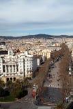 взгляд городского пейзажа barcelona 2 антенн Стоковое Изображение