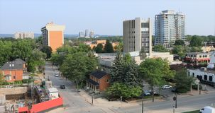 Взгляд городского Burlington, Онтарио, Канада 4K сток-видео