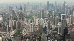 Взгляд городской сцены в Шанхае, Шанхае, Китае видеоматериал