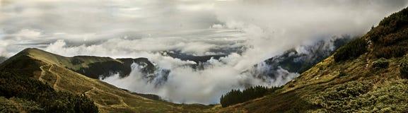 взгляд горы панорамный Стоковое Изображение RF
