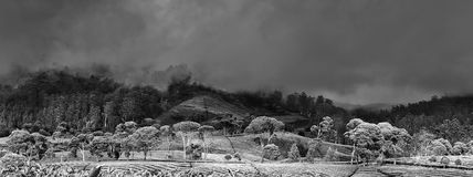 Взгляд 3 горы панорамный Стоковые Изображения