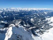 Взгляд гор зимы на Шладминге - Dachstein стоковая фотография
