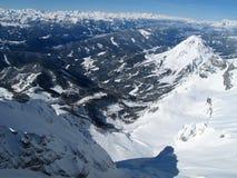Взгляд гор зимы на Шладминге - Dachstein стоковое фото